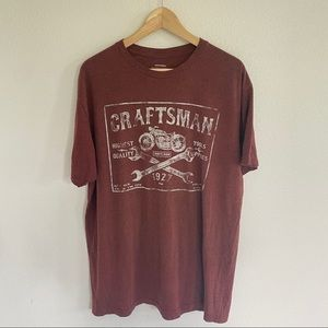 Craftsman/motorcycle graphic t